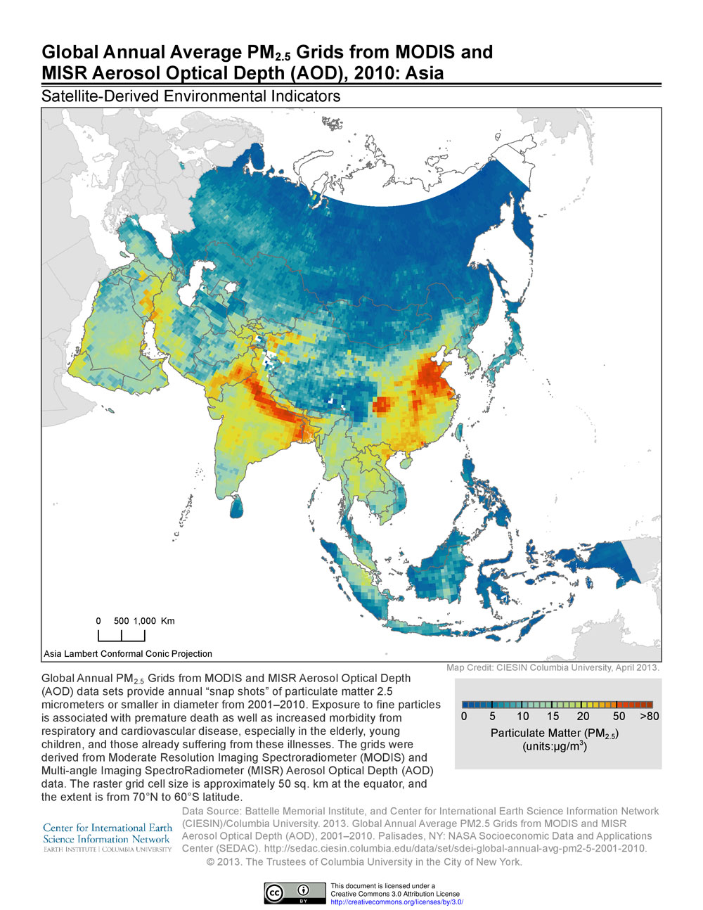 News p sedac map of annual average particulate matter concentrations in asia in 2010 freerunsca Gallery