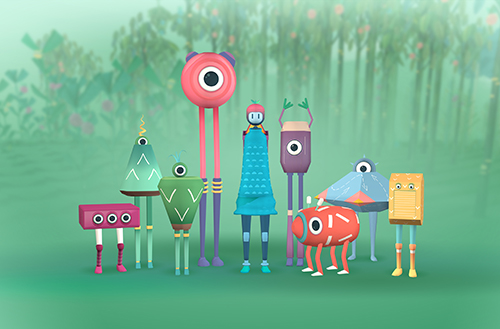 Image of imaginary small creatures in the game, The Pack