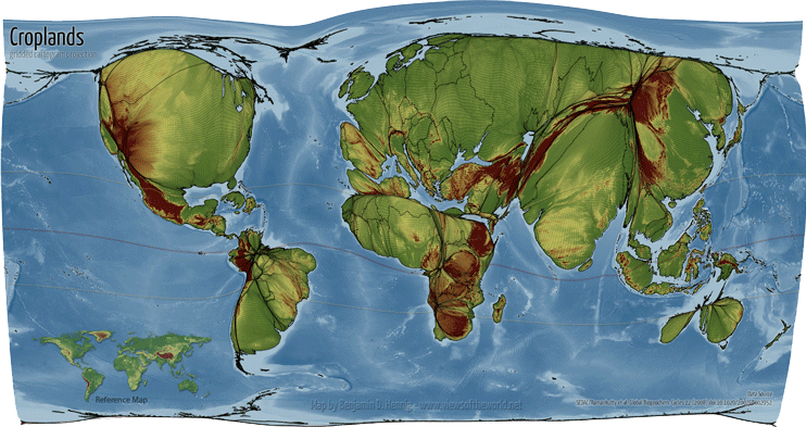 Visualizing the Global Extent of Cropland and Pastures
