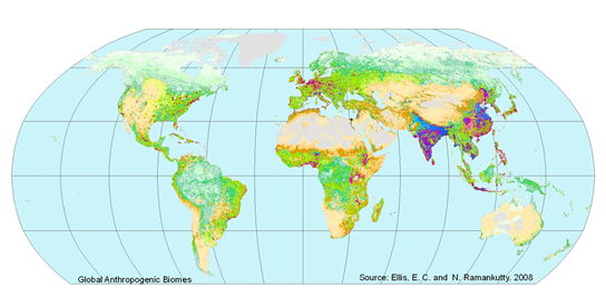 Anthropogenic Biomes Of The World, V2 (1700, 1800, 1900, 2000 Versions).