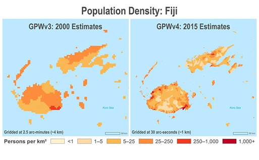 Fiji population density