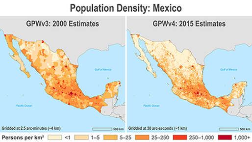 Whats New in GPWv4 Gridded Population of the World GPW v4 SEDAC