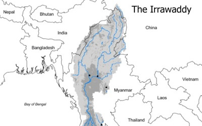 Map of the The Irrawaddy Delta and Cyclone Nargis