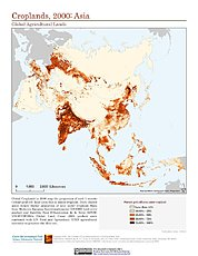 Map: Croplands (2000): Asia