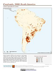 Map: Croplands (2000): South America