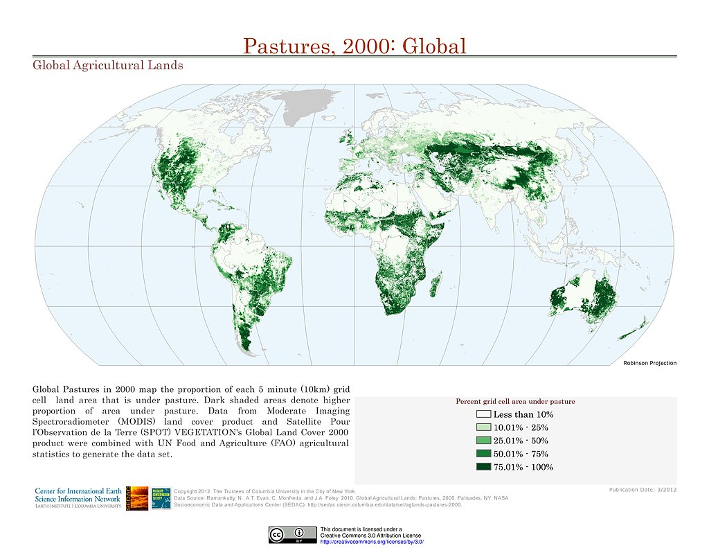 Agriculture World Map.Maps Global Agricultural Lands Sedac