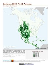 Map: Pastures, 2000: North America