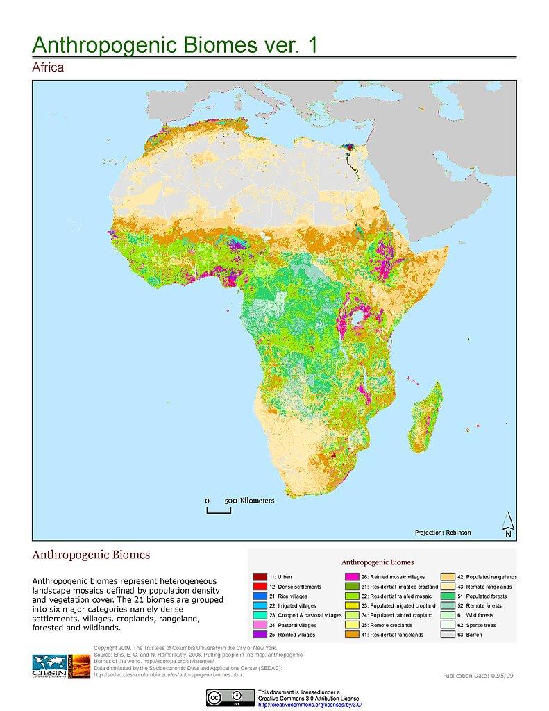 Maps » Anthropogenic Biomes of the World, v1: | SEDAC