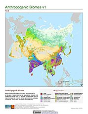 Map: Anthropogenic Biomes, v1: Asia