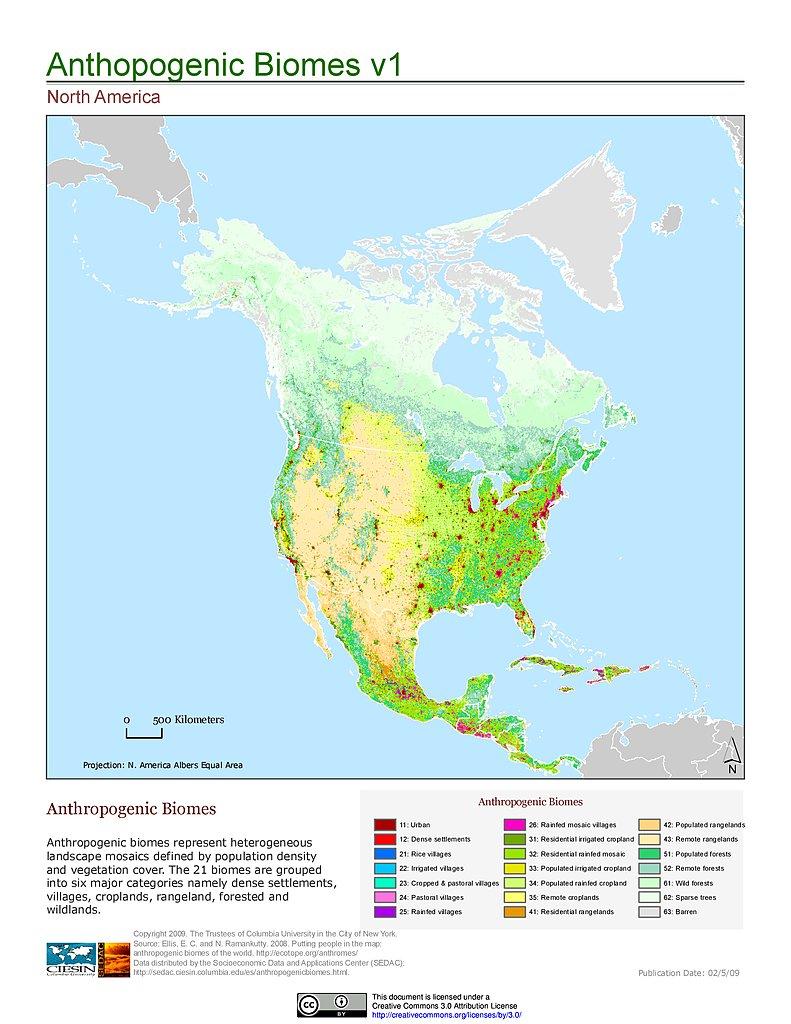 Map Gallery SEDAC - Vegetation map of north america