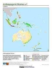 Map: Anthropogenic Biomes, v1: Oceania