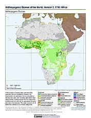 Map: Anthropogenic Biomes, v2 (1700): Africa