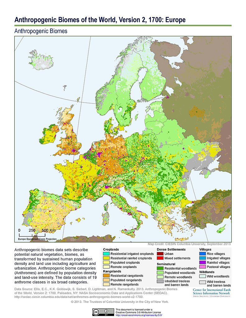 Maps Anthropogenic Biomes SEDAC