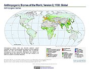Map: Anthropogenic Biomes, v2 (1700)