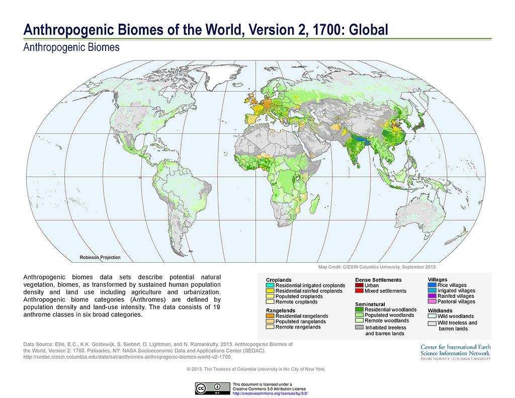 maps anthropogenic biomes sedac