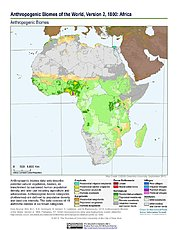 Map: Anthropogenic Biomes, v2 (1800): Africa