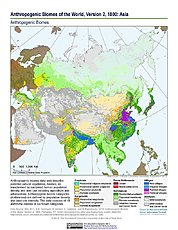 Map: Anthropogenic Biomes, v2 (1800): Asia