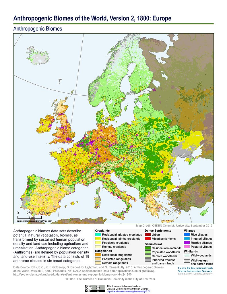 anthropogenic biomes v2 1800 europe