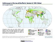 Map: Anthropogenic Biomes, v2 (1800)