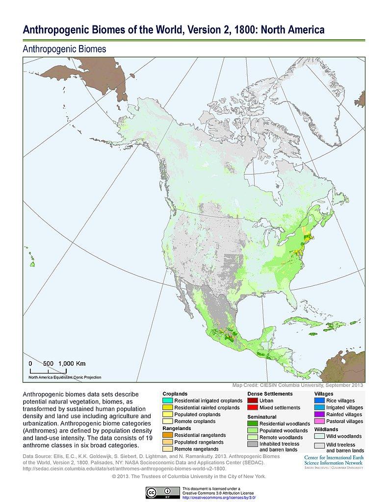 Maps Anthropogenic Biomes SEDAC - Biome map us