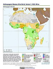 Map: Anthropogenic Biomes, v2 (1900): Africa