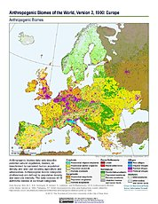 Map: Anthropogenic Biomes, v2 (1900): Europe