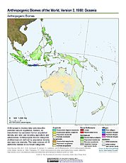 Map: Anthropogenic Biomes, v2 (1900): Oceania