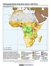 Map: Anthropogenic Biomes, v2 (2000): Africa