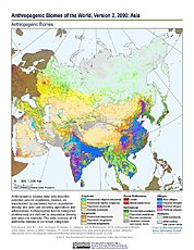 Map: Anthropogenic Biomes, v2 (2000): Asia