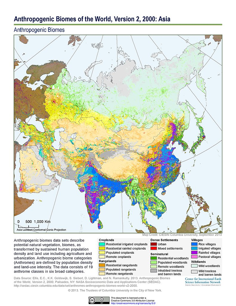 Maps Anthropogenic Biomes Of The World V SEDAC - Biome map of us