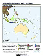 Map: Anthropogenic Biomes, v2 (2000): Oceania