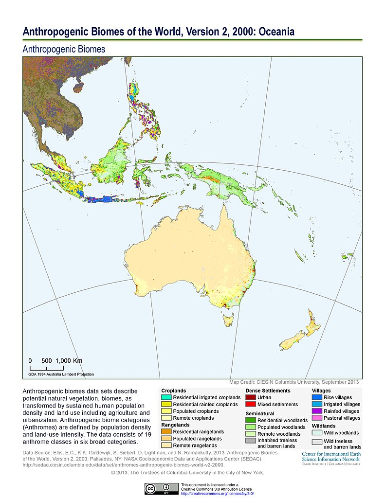 Map gallery sedac anthropogenic biomes v2 2000 oceania gumiabroncs Images