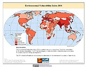 Map: Environmental Vulnerability Index (2004)
