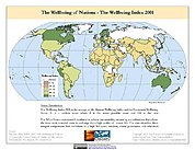 Map: Wellbeing Index (2001)