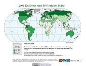 Map: 2008 Environmental Performance Index