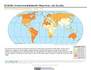 Map: Environmental Health - Air Quality, EPI 2014