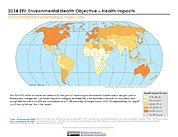 Map: 2014 EPI: Environmental Health Objective - Health Impacts