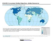 Map: Ecosystem Vitality - Water Resources, EPI 2014
