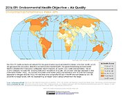 Map: Environmental Health - Air Quality, EPI 2016