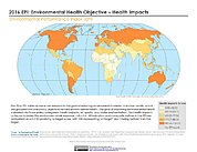 Map: Environmental Health - Health Impacts, EPI 2016