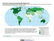 Map: Environmental Health, EPI 2016