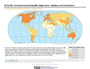Map: Environmental Health - Water & Sanitation, EPI 2016