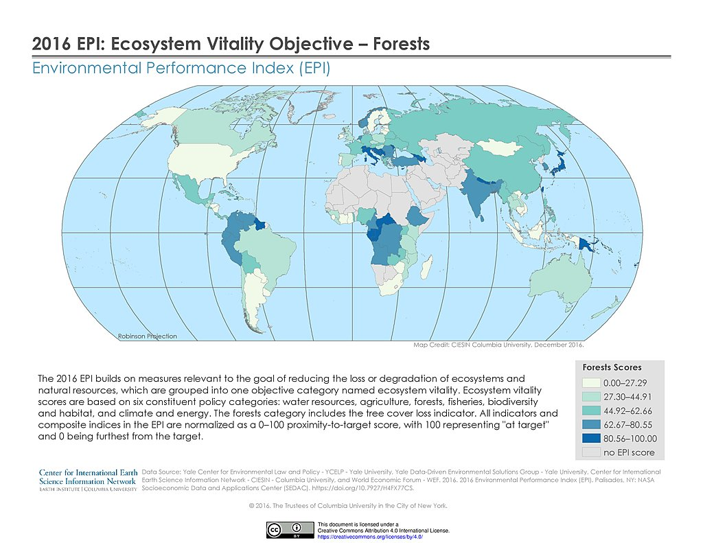 Maps » Environmental Performance Index (EPI) | SEDAC