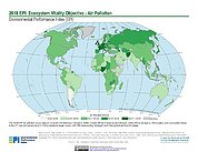 Map: Ecosystem Vitality - Air Pollution EPI 2018
