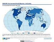 Map: Environmental Health - Air Quality, EPI 2018