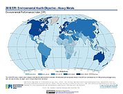Map: Environmental Health - Heavy Metals, EPI 2018