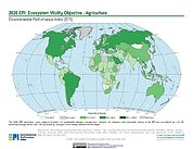 Map: Ecosystem Vitality - Agriculture, EPI 2020