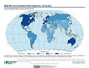 Map: Environmental Health - Air Quality, EPI 2020