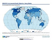 Map: Environmental Health - Heavy Metals, EPI 2020
