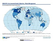 Map: Environmental Health - Waste Management, EPI 2020
